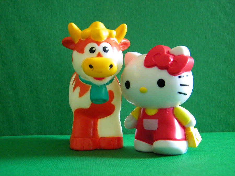 Kitty and Cow