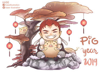 Chibi - Year of the Pig by hase-illustration