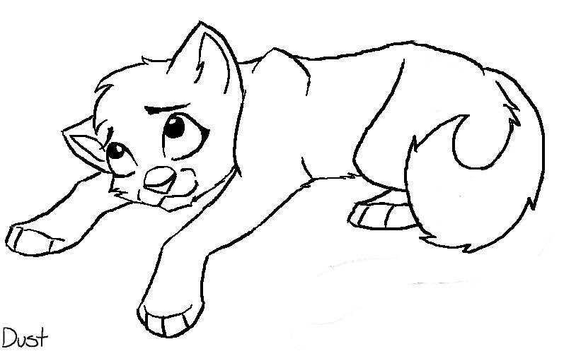 Simple Cat Lineart : Free cat lineart by motzii on deviantart