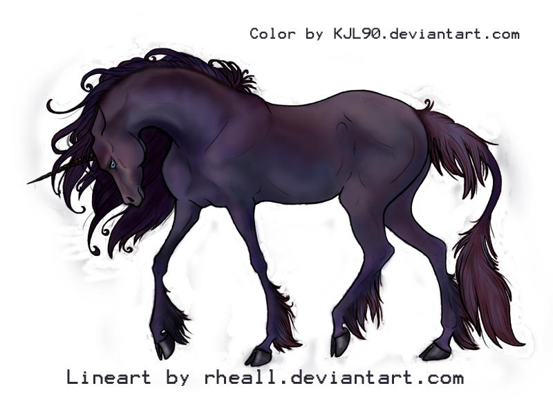 Rheall's Ooneecorn, colored by KJL90