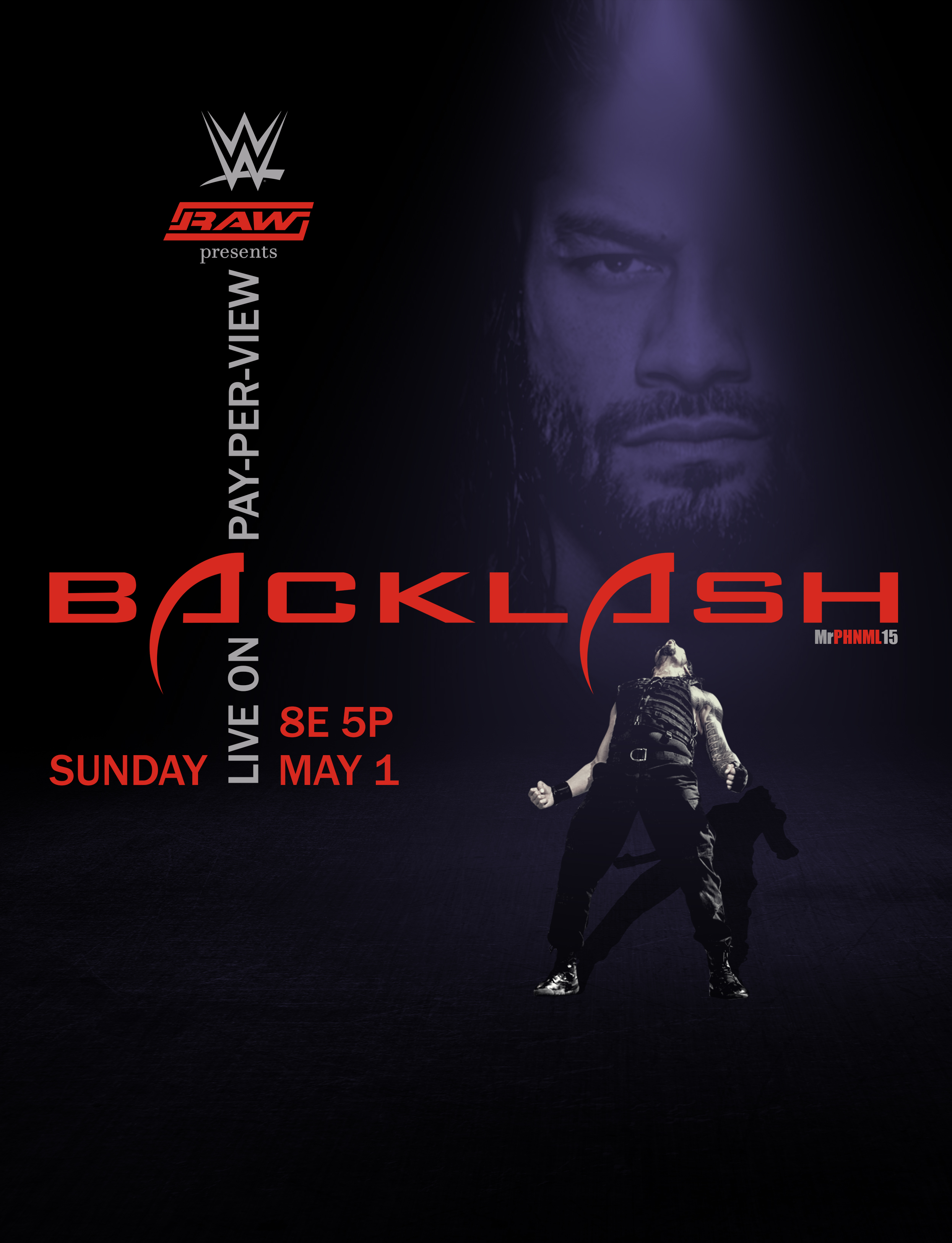 Wwe Backlash 2005 Poster Feat Roman Reigns By