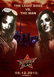 WWE SummerSlam (2019) - Sasha vs. Becky Poster by MrPHENOMENAL15