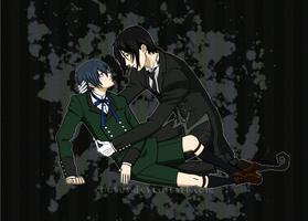 Ciel and Sebastian - Kuroshitsuji fan art by Enotus