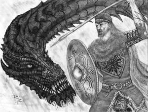 Fram vs Scatha by RobertBugan