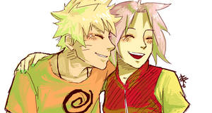 NaruSaku . Happy by starchiishio