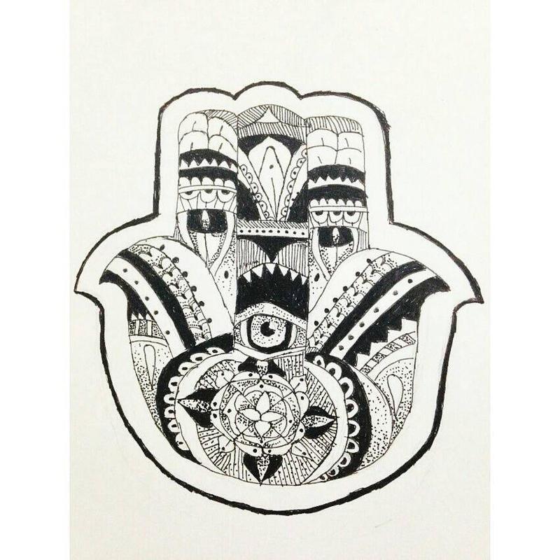 Indian hand symbol. by unicornnn6 on DeviantArt