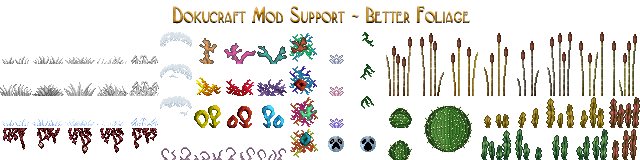 Dokucraft Mod Support - Better Foliage - Download