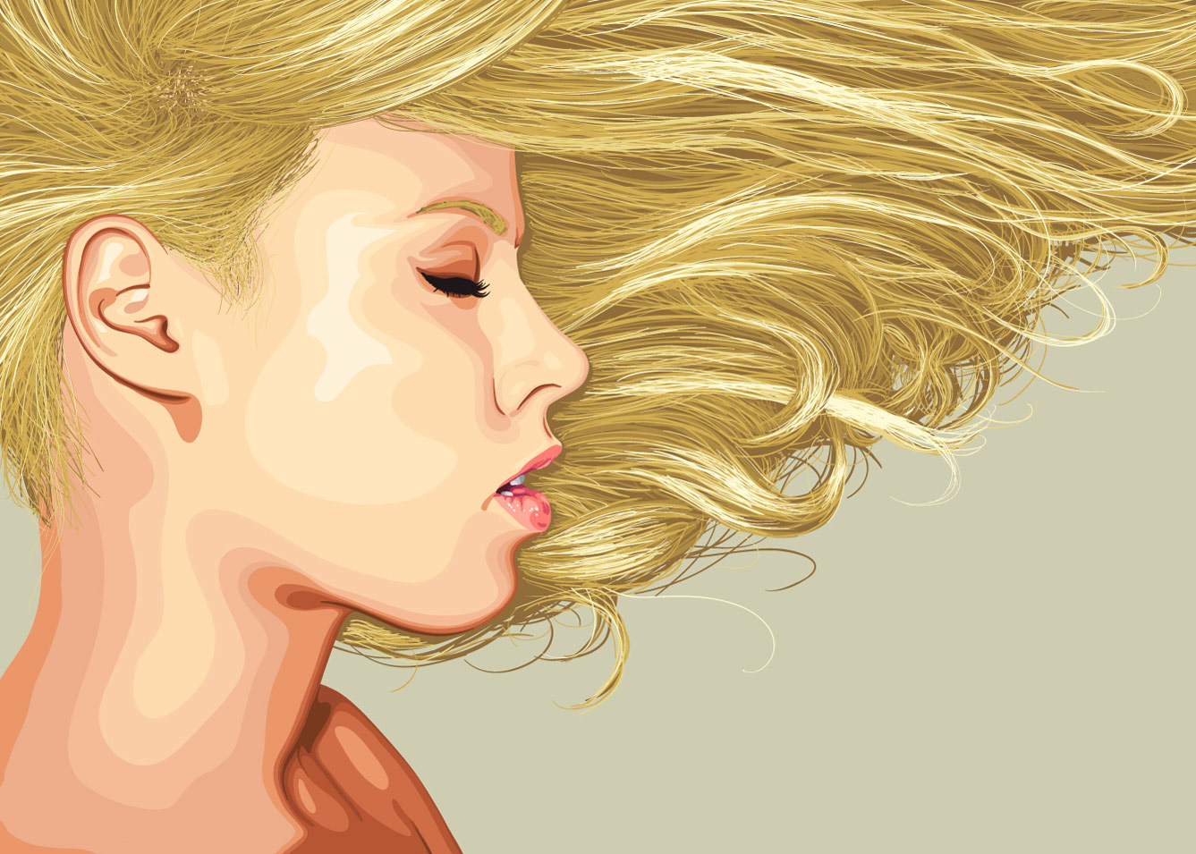 Girl With Blonde Hair By Gnyp On Deviantart