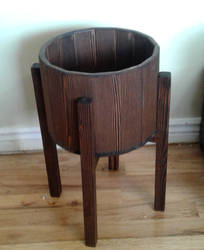 10 inch Wood Flowerpot and Matching stand