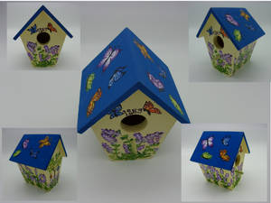 Lavender and butterflies birdhouse