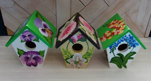 Three Birdhouses for one order