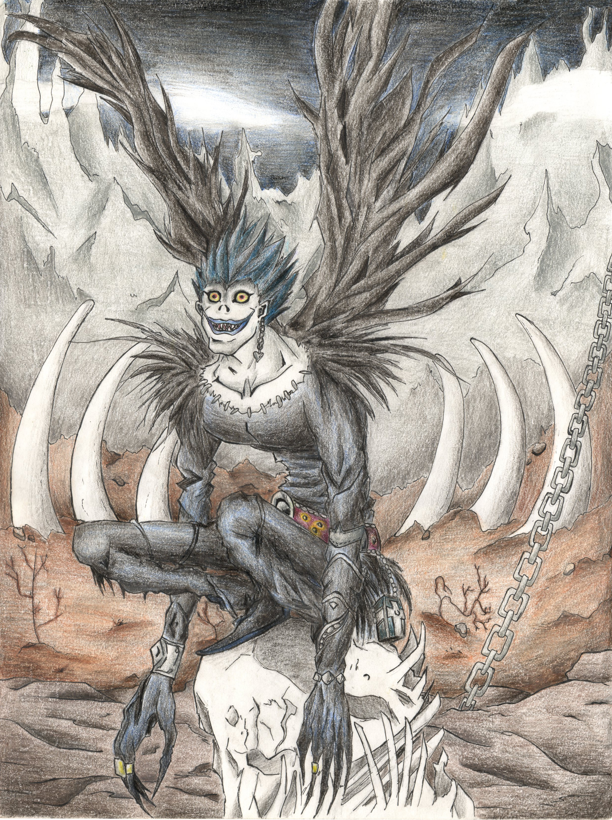Ryuk in the Shinigami World, from Death Note. by ...