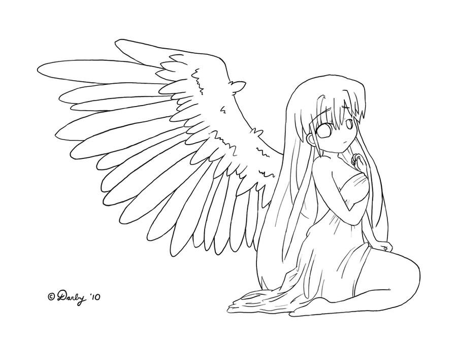 coloring pages of fallen angels - photo#42