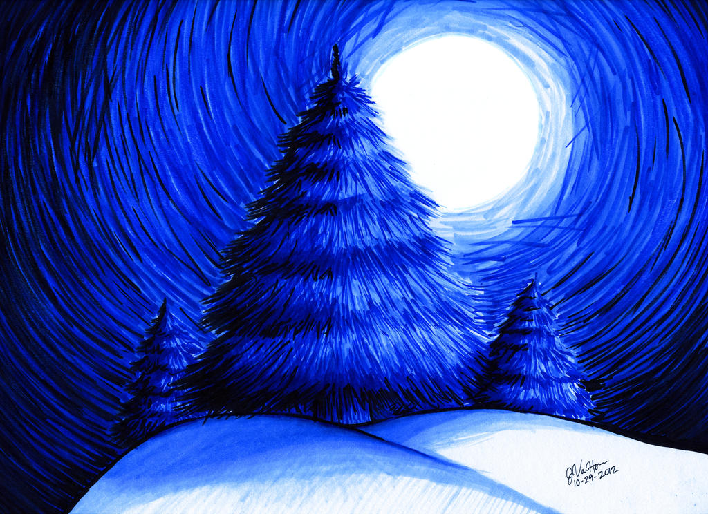 Monochromatic Evergreen Trees By KitsuneKage13 On DeviantART