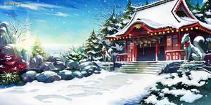 Shinto Shrine - Winter