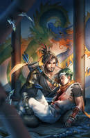 Overwatch - Hanzo and Genji Shimada by ofSkySociety