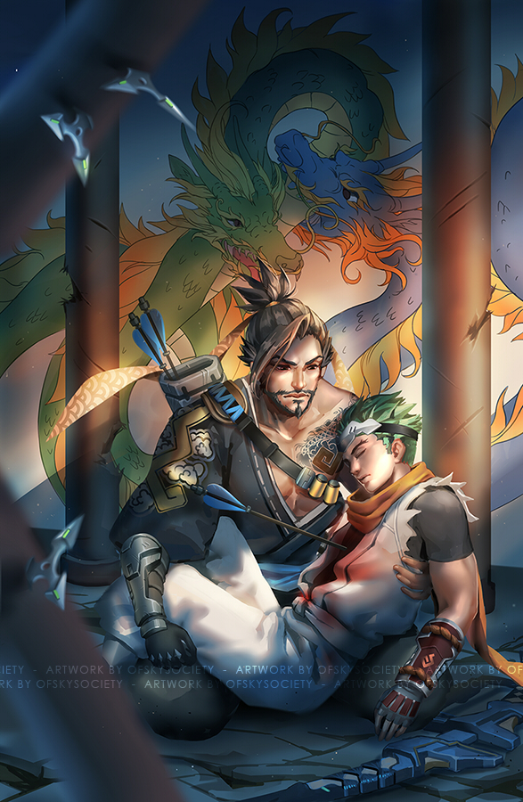 Overwatch - Hanzo and Genji Shimada by ofSkySociety