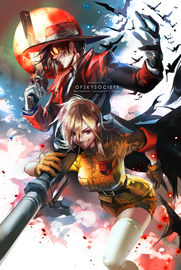 Hellsing   Alucard and Seras by ofSkySociety