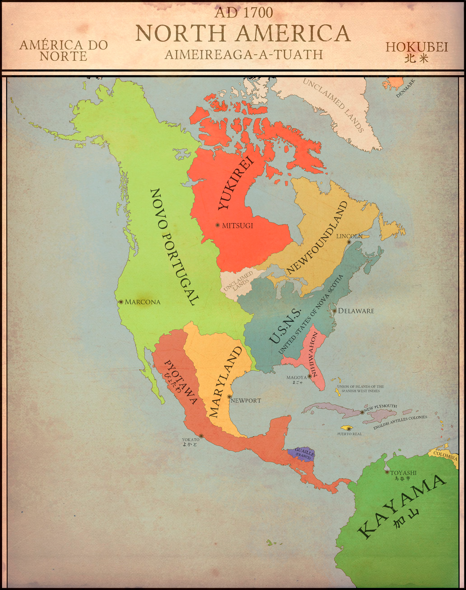 Map Of America In 1700.North America 1700 Euiv Japan Campaign By Fridip On Deviantart
