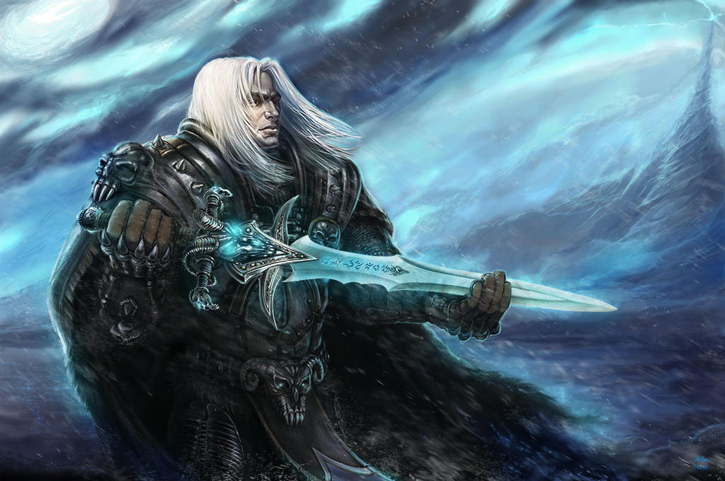 Prince Arthas And Frostmourne by BlizzardHelen on DeviantArt
