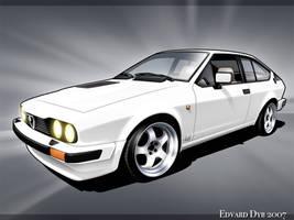 Alfa Romeo GTV toon by dr-phoenix