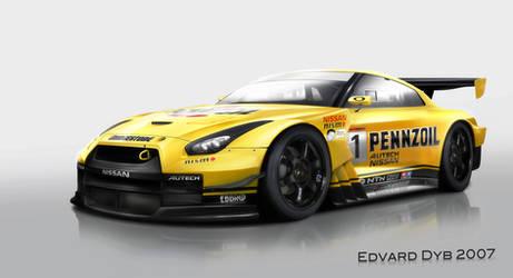 Pennzoil Nissan GTR Super GT by dr-phoenix