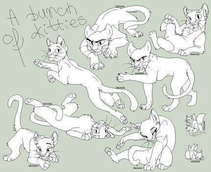 A bunch of kitties by blackunia