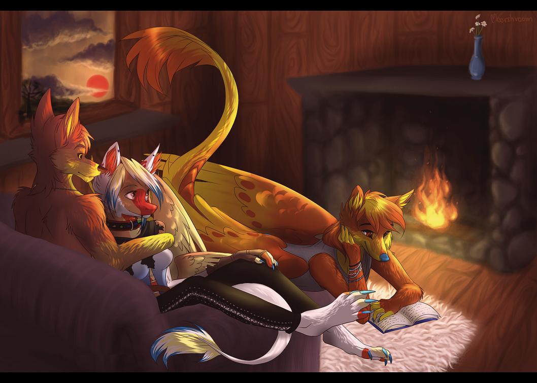 Fireplace by blackunia