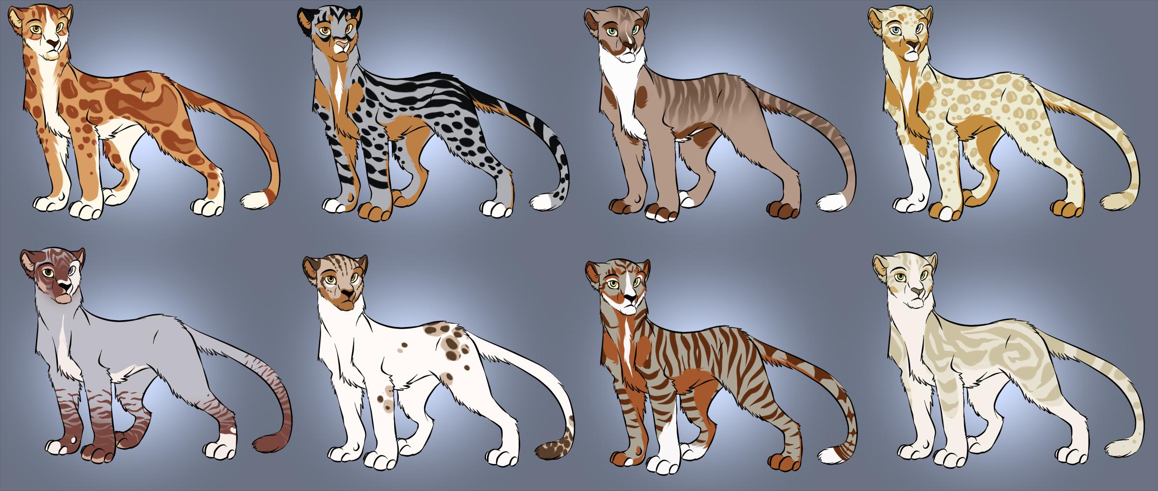 Big Cat Designs TWO LEFT by blackunia