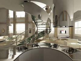 Loft Classic Ver01 Kitchen by thiagomarcondes