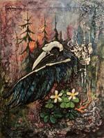 CrowSkull by MizraSparrow
