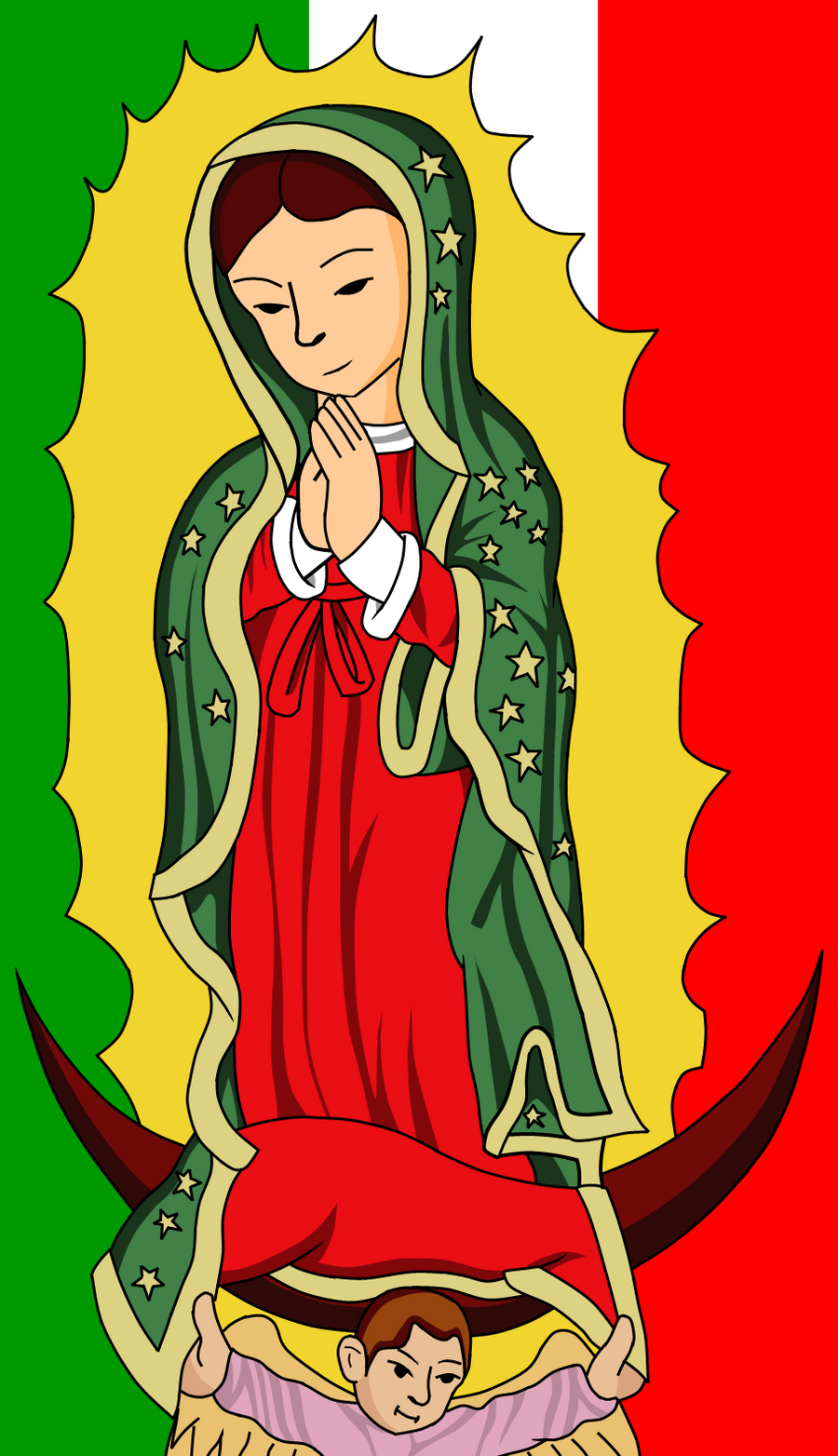 ... 2010 2012 gamergirl304 pic i made of la virgen de guadalupe