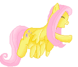Pixel flying fluttershy (Base) by luXanSnake