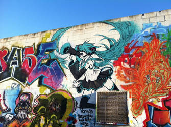 Hatsune Miku graffiti by musegraffiti