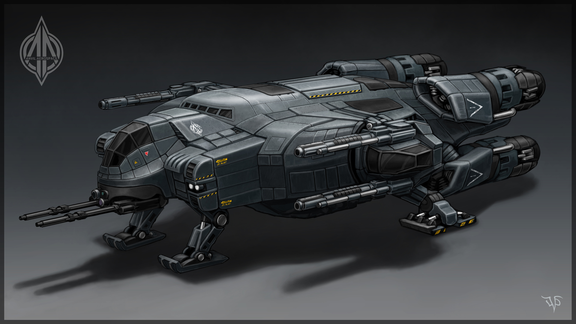 Gunship concept by leonovichdmitriy on deviantart