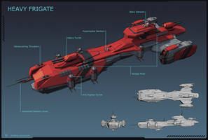 Deimos Class Frigate by LeonovichDmitriy