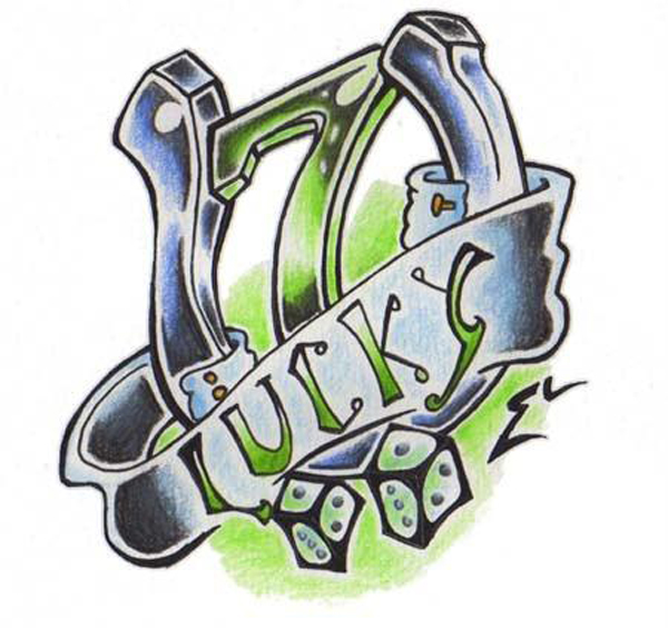 Lucky 7 by badwicca on deviantart for Lucky seven tattoo