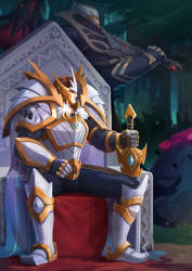 King God Darius ^ King God Garen Fan Art by RavenBlack111