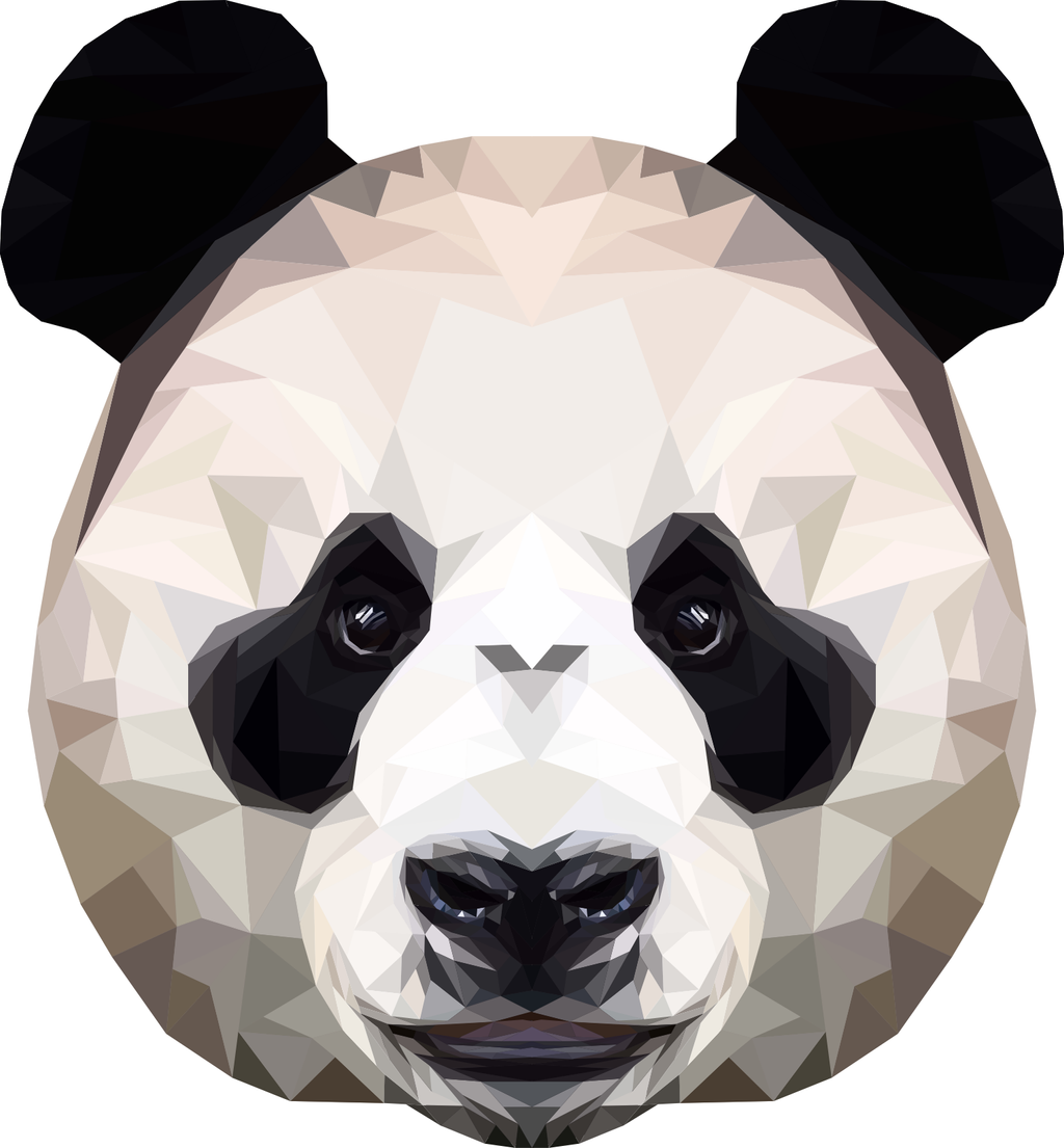 Panda Polygon Art by peachandguava on DeviantArt