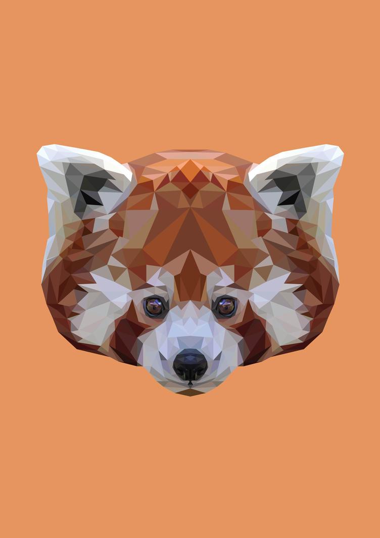 Polygon Red Panda by peachandguava