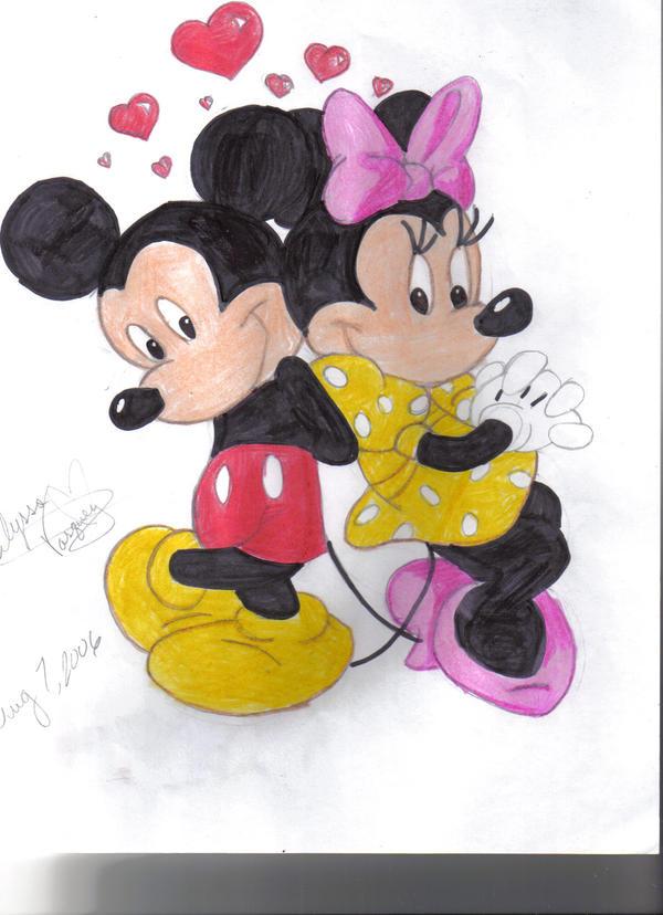 Mickey and Minie by vasqueza93