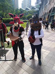 Two robotic pirates