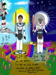 Lance and Allura, Gods of Ruotan (SAI version) by HorsesPlease