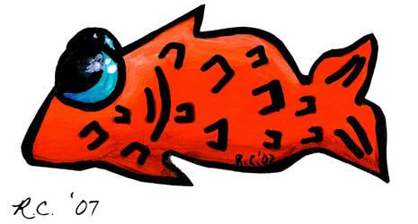 Sticker Set- Retarted Goldfish by florafawna