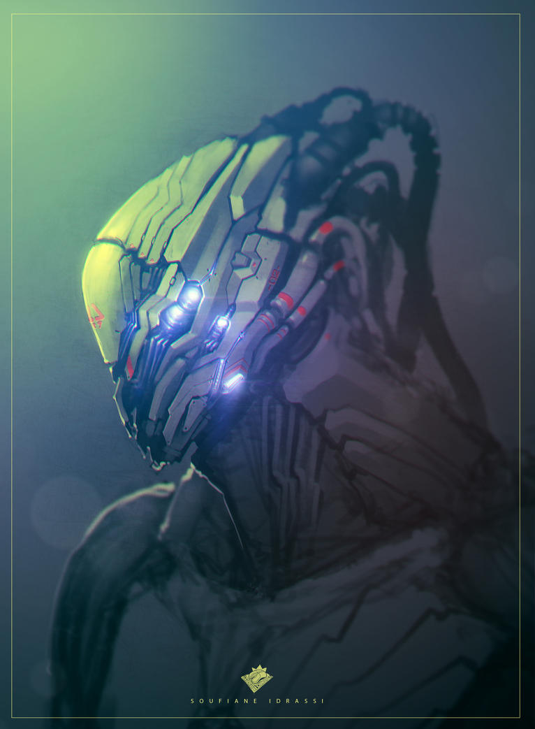 Robot Head Concept by streetX222