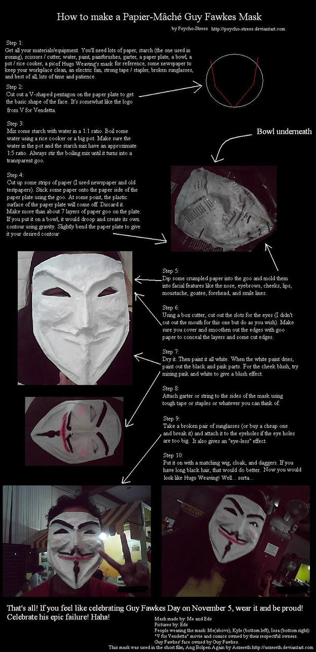 How to make a Guy Fawkes Mask by Psycho-Stress
