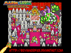 Mario and Luigi SuperStarSaga by BryamRedFire