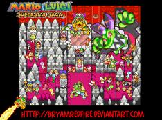 Mario and Luigi SuperStarSaga by BryamRedFire