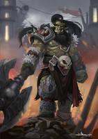 Orc Warrior by Mines-Dahka