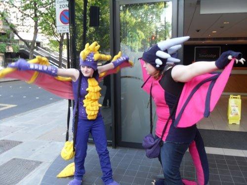 Cynder and Spyro flap by Yasha
